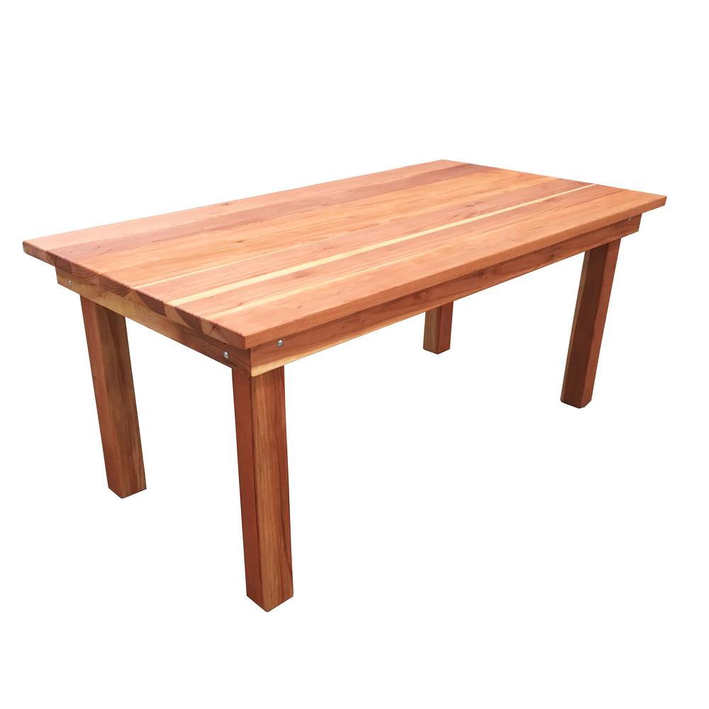 Enjoyable Best Redwood Farmhouse 5 Ft Redwood Outdoor Dining Table Home Interior And Landscaping Ologienasavecom