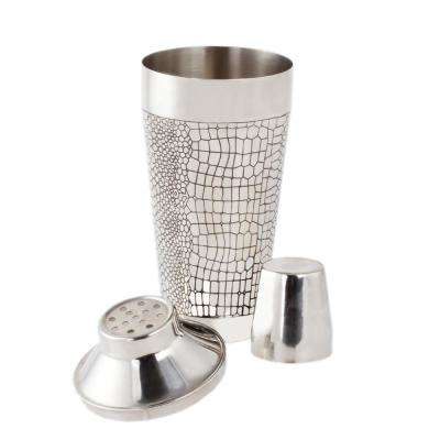 25 oz. Stainless Steel Cocktail Shaker Reptile Design