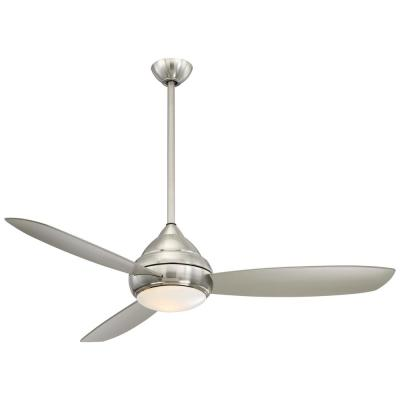 Concept I Wet 58 in. Integrated LED Indoor/Outdoor Brushed Nickel Wet Ceiling Fan with Light with Remote Control