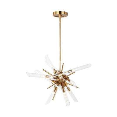 Quorra 14-Light Burnished Brass Chandelier