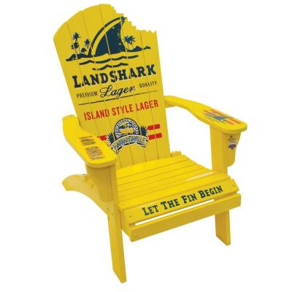 LandShark Lager Solid Wood Adirondack Chair