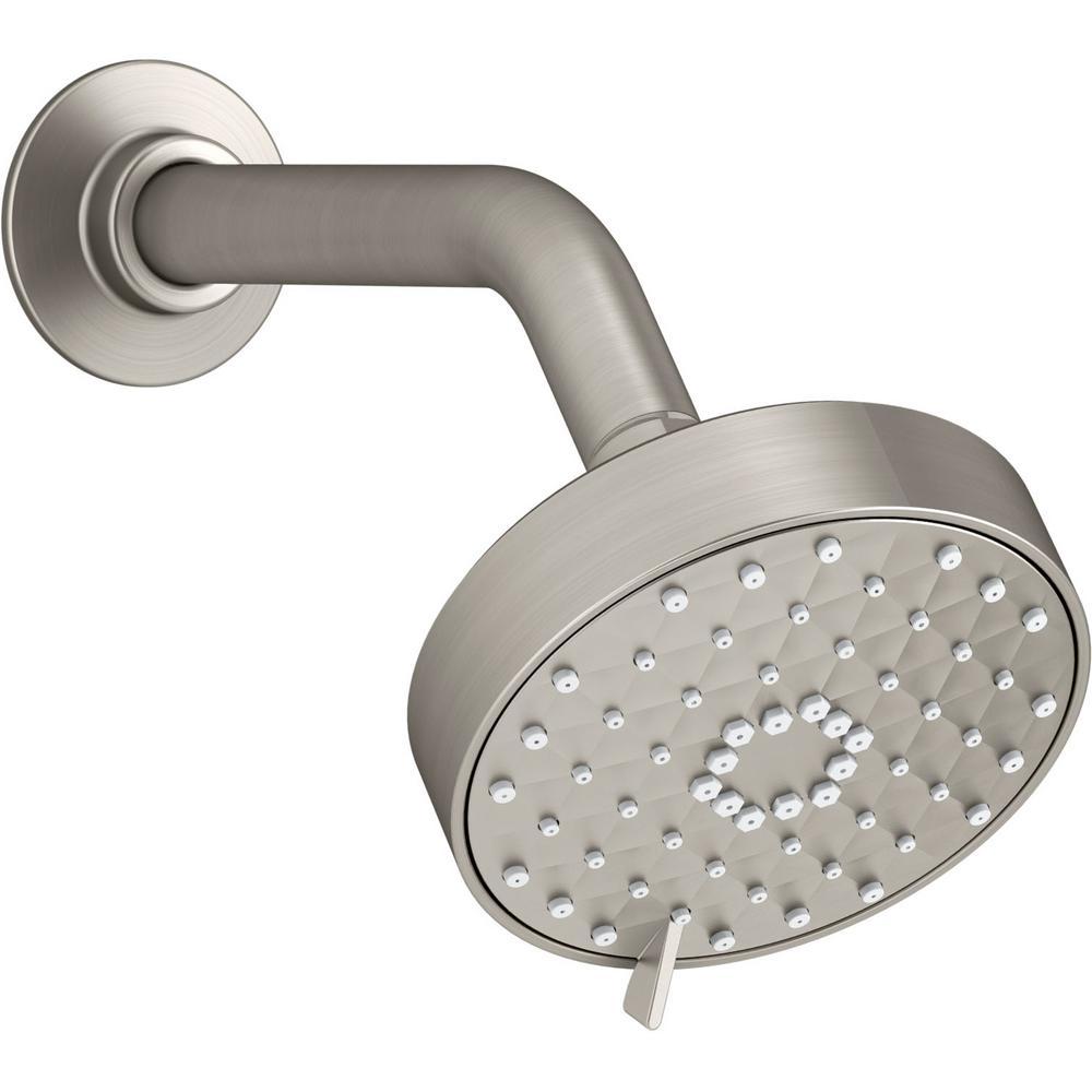 Awaken 3-Spray 4.3125 in. Showerhead in Vibrant Brushed Nickel