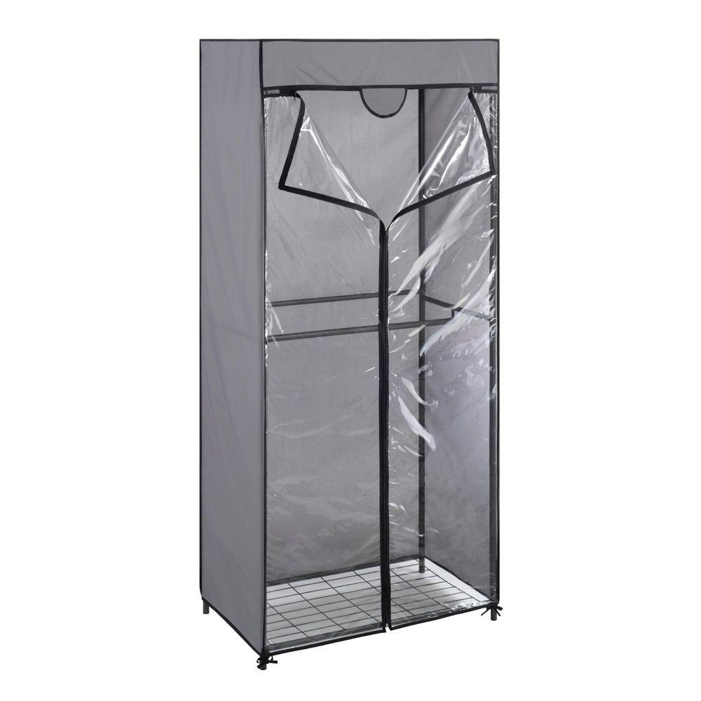 Whitmor 68.50 In. H X 30.25 In. W Steel Gray Double Rod Closet