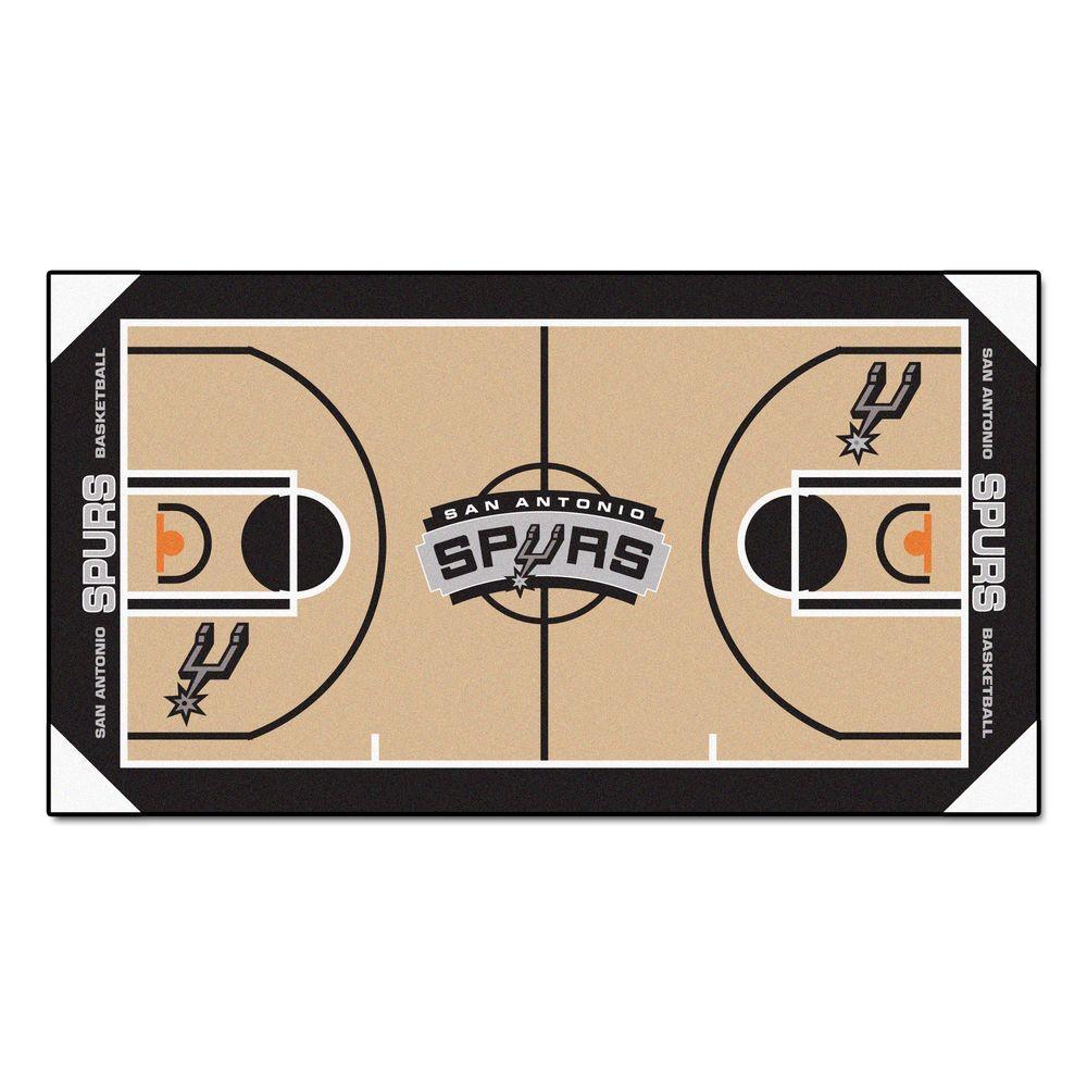 San Antonio Spurs 2 ft. x 4 ft. NBA Court Runner Rug