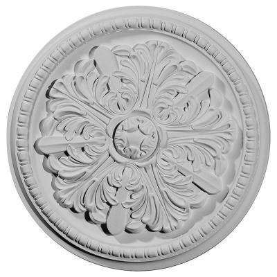 16.88 in. x 16.88 in. x 1.5 in. (Fits Canopies up to 2-7/8 in.) Swindon Ceiling Medallion