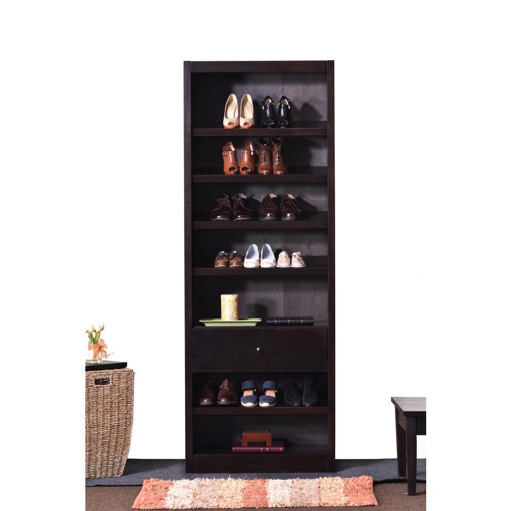 Espresso Storage Bookcase
