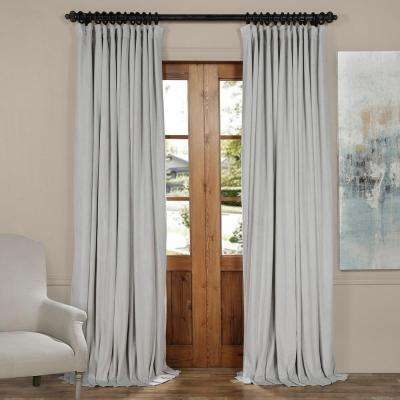 Blackout Signature Reflection Grey Doublewide Blackout Velvet Curtain ...