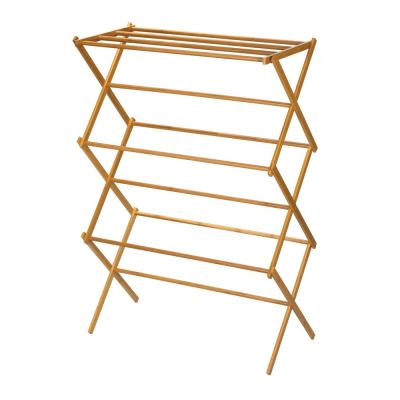 29.25 in. W x 42.37 in. H Bamboo X-Frame Clothes Drying Rack