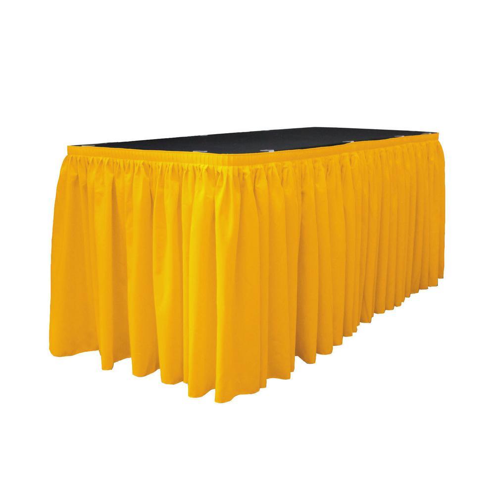L.A. Linen 17 ft. x 29 in. Long Dark Yellow Polyester Pop...