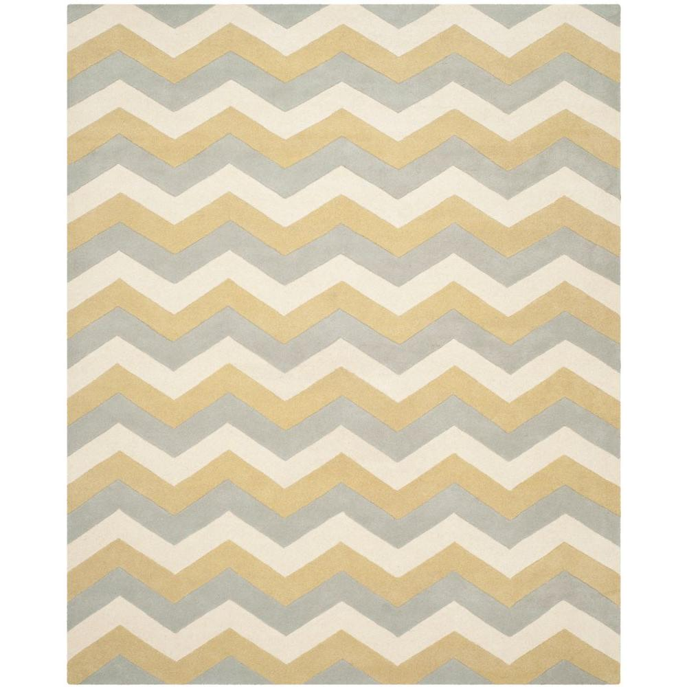 Chatham Grey/Gold 8 ft. x 10 ft. Area Rug