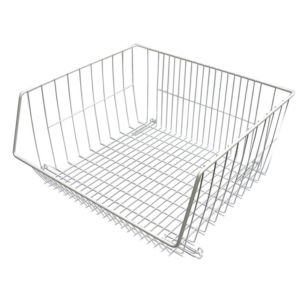 Closetmaid 16 375 In X 8 25 Stack Or Hang Wire Storage Basket