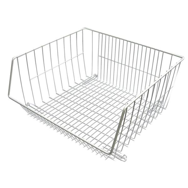 16.375 in. x 8.25 in. Stack-or-Hang Wire Storage Basket