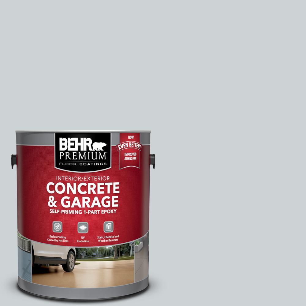 BEHR Premium 1 gal. #N510-1 Silver Shadow Self-Priming 1-Part Epoxy Satin Interior/Exterior Concrete and Garage Floor Paint