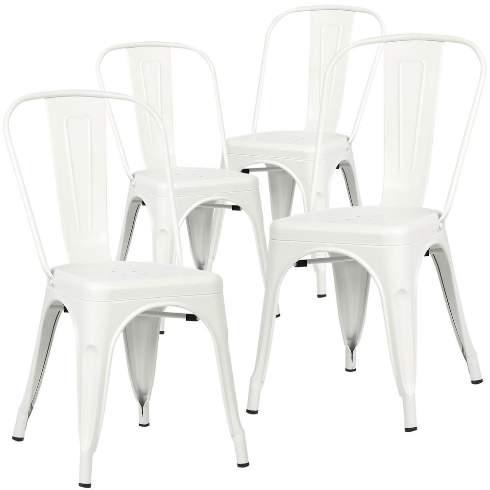 Poly and Bark Poly and Bark Trattoria White Side Chair (Set of 4)