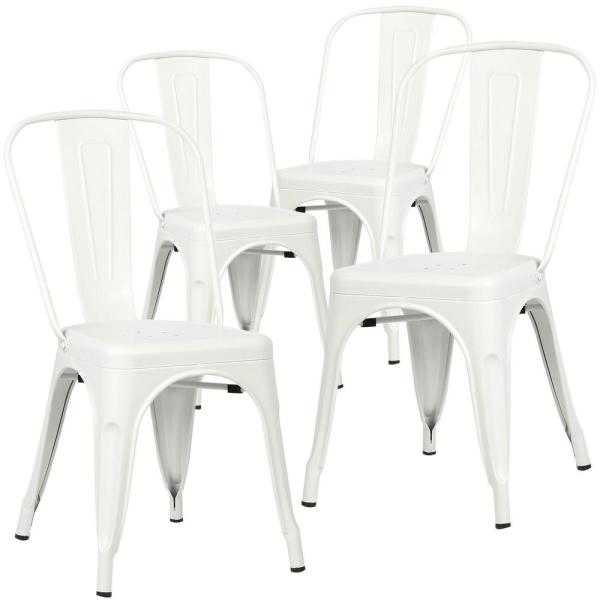 Poly and Bark Trattoria White Side Chair (Set of 4)
