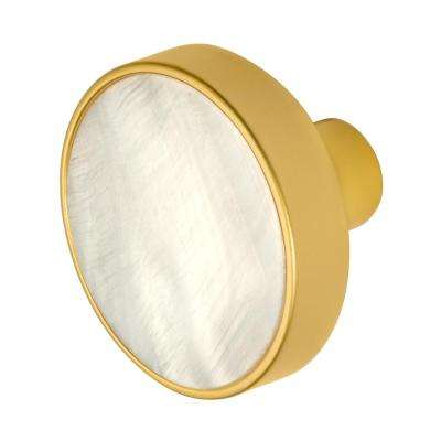 Pearl 1-3/8 in. Satin Gold Cabinet Knob