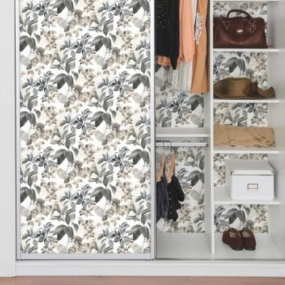 28.18 sq. ft. Neutral Rainforest Leaves Peel and Stick Wallpaper