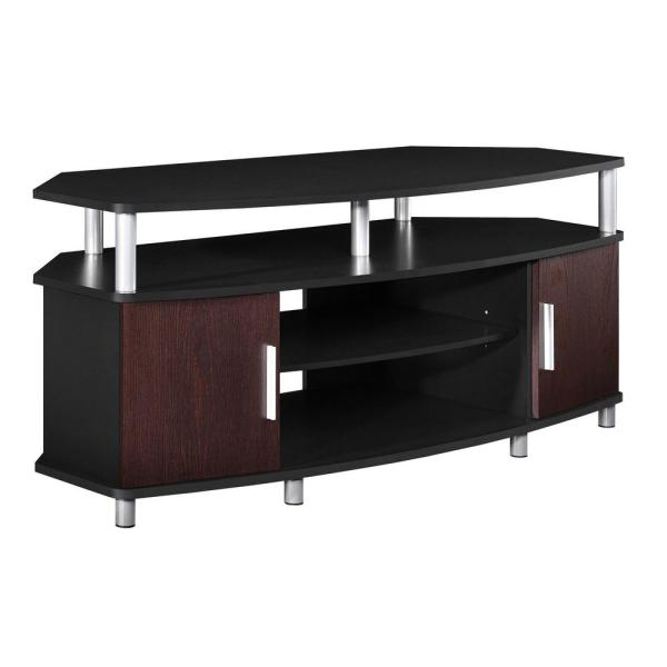 Ameriwood Home Windsor Black and Cherry 50 in. TV Stand HD19448