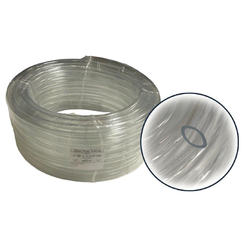 3/4 in. I.D. x 1 in. O.D. x 1/8 in. Wall PVC Clear Tubing Coil