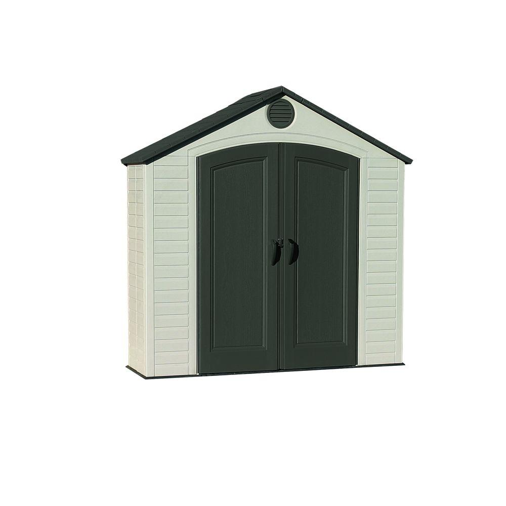 Lifetime 8 ft. x 2.5 ft. Indoor Outdoor Storage Shed, Bro...