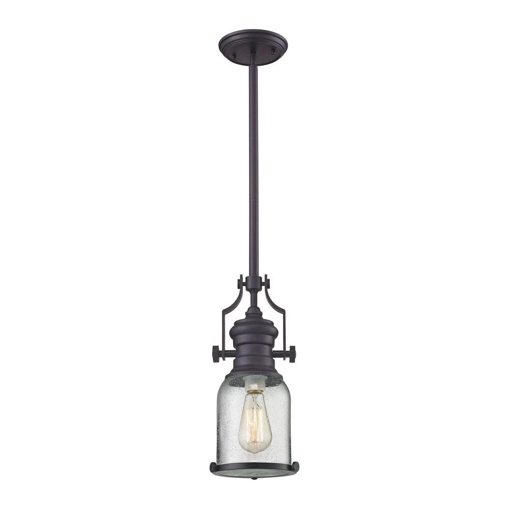 An Lighting Chadwick 1 Light Oil Rubbed Bronze Pendant