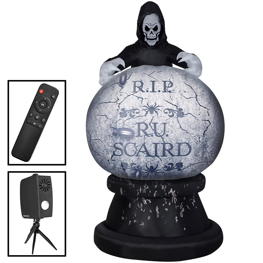 unbranded 8.5 ft. Living Projection Reaper Globe Halloween Inflatable Airblown