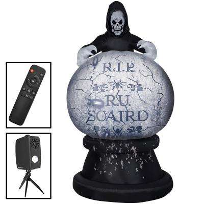 8.5 ft. Living Projection Reaper Globe Halloween Inflatable Airblown
