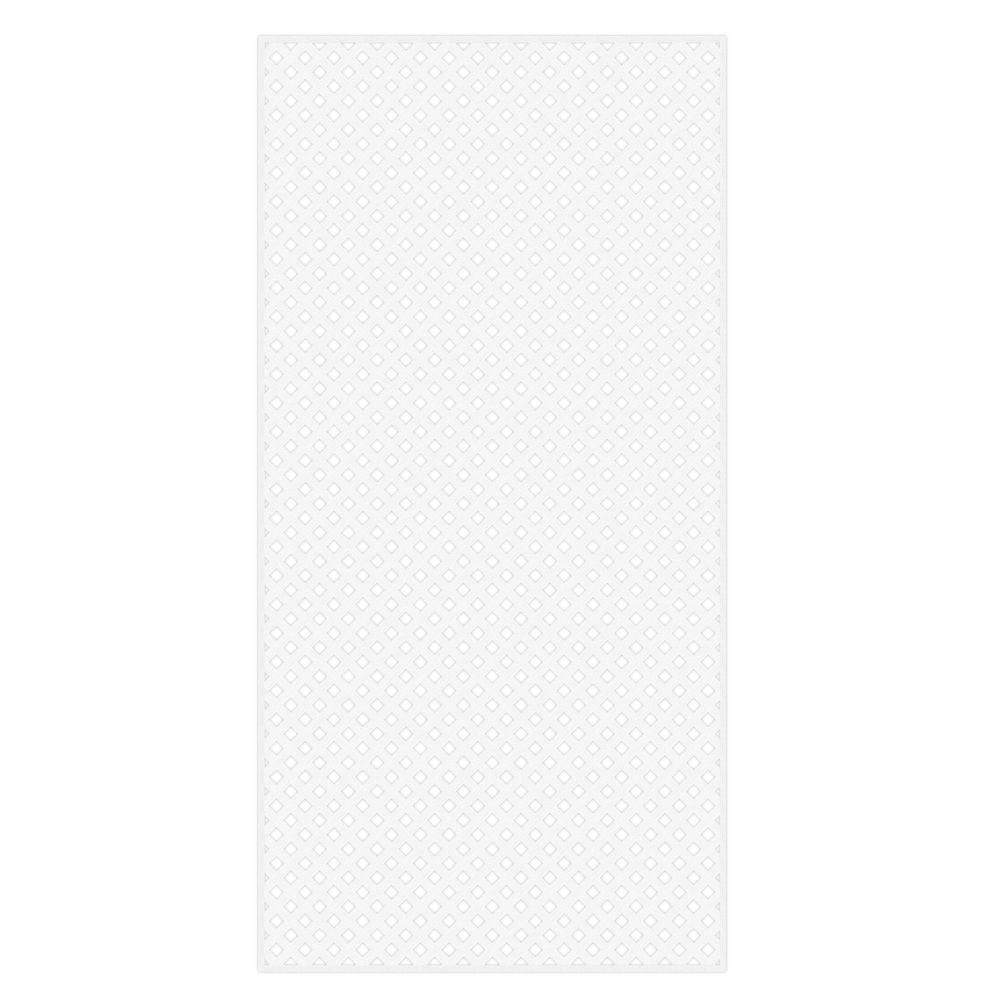 0.2 in. x 48 in. x 8 ft. White Vinyl Privacy Diamond Lattice