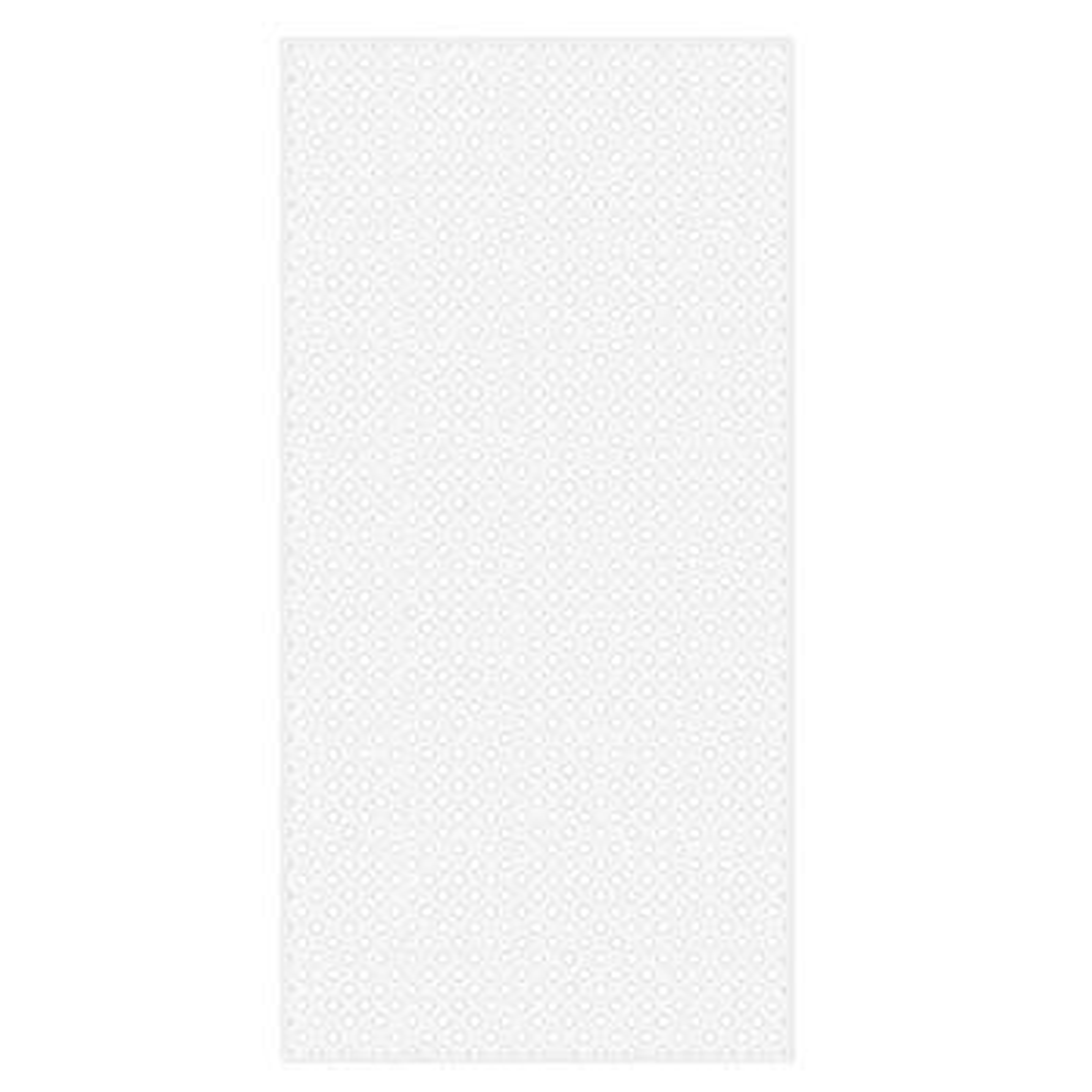 4 ft. x 8 ft. White Privacy Diamond Vinyl Lattice - Framed