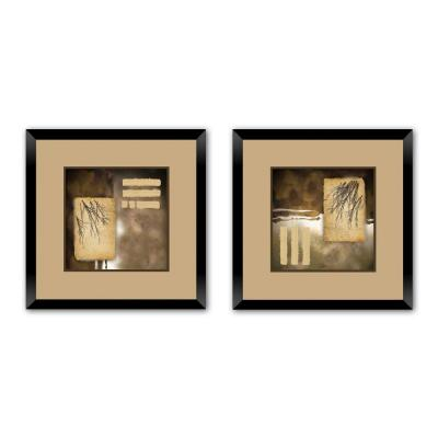 """18 in. x 18 in. """"Fall Frenzy"""" Double-Matted Framed Wall Art (Set of 2)"""