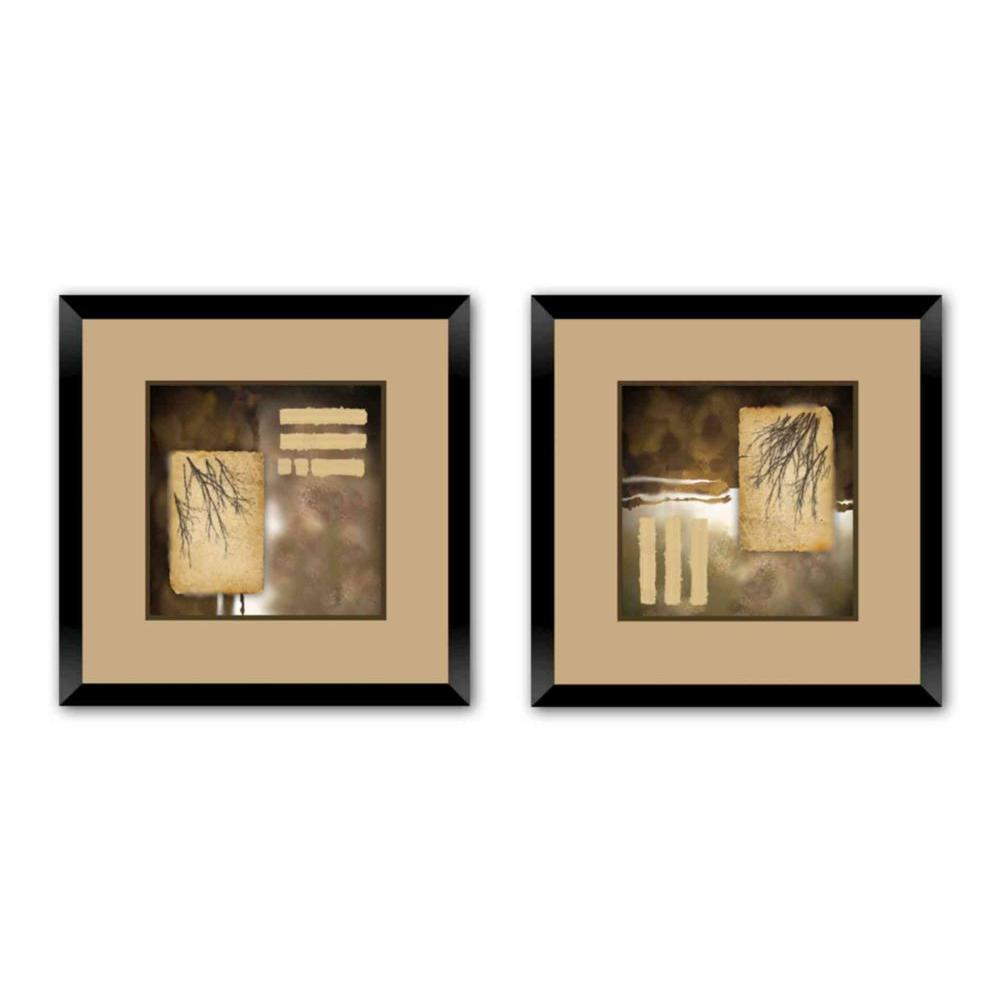 "PTM Images 18 in. x 18 in. ""Fall Frenzy"" Double-Matted Framed Wall Art (Set of 2)"
