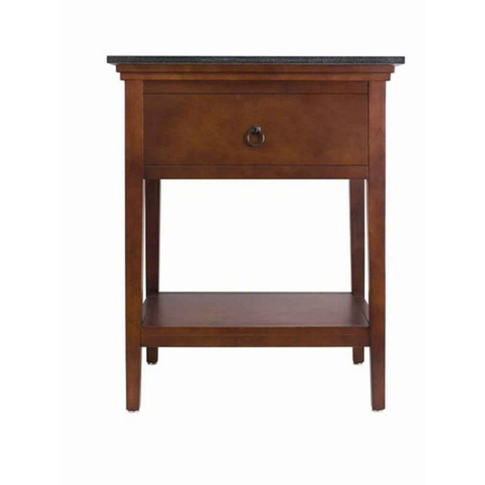 American Standard Brook 26.50 in. W x 19.25 in. D x 33.25 in. H Console Table in Cognac-DISCONTINUED