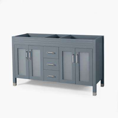 Halston 60 in. W x 22 in. D Bath Vanity Cabinet Only in Grey