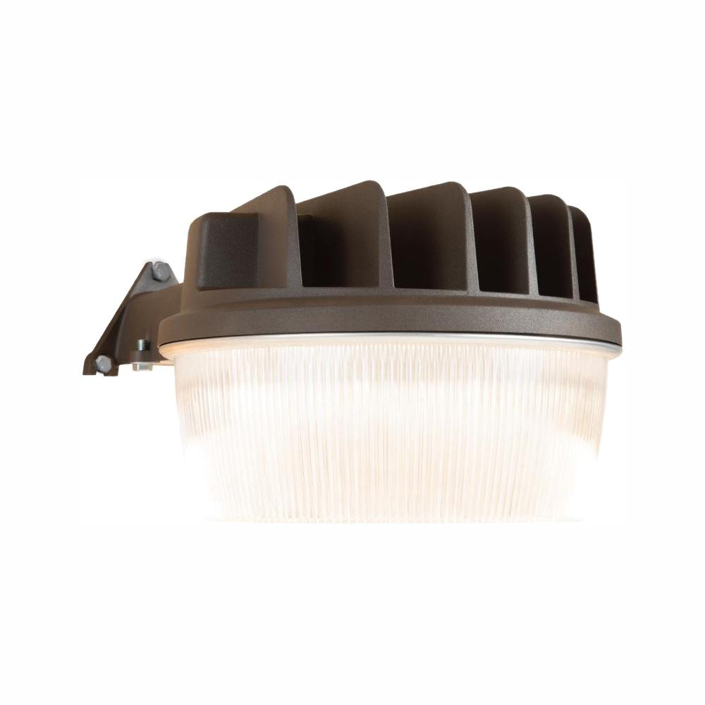 Halo 30-Watt Bronze Outdoor Integrated LED Dusk to Dawn Security Area on