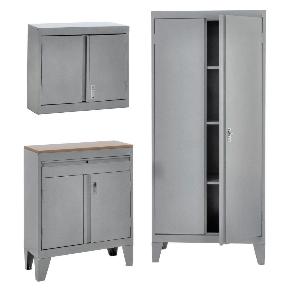 79 in. H x 36 in. W x 18 in.D 3-  sc 1 st  The Home Depot & Heavy Duty - Garage Storage Systems - Garage Cabinets u0026 Storage ...