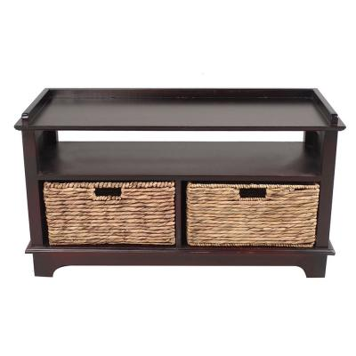Shelly Espresso Wood Cabinet with a Drawer