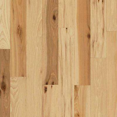 Take Home Sample - Hickory Rustic Natural Solid Hardwood Flooring - 5 in. x 7 in.