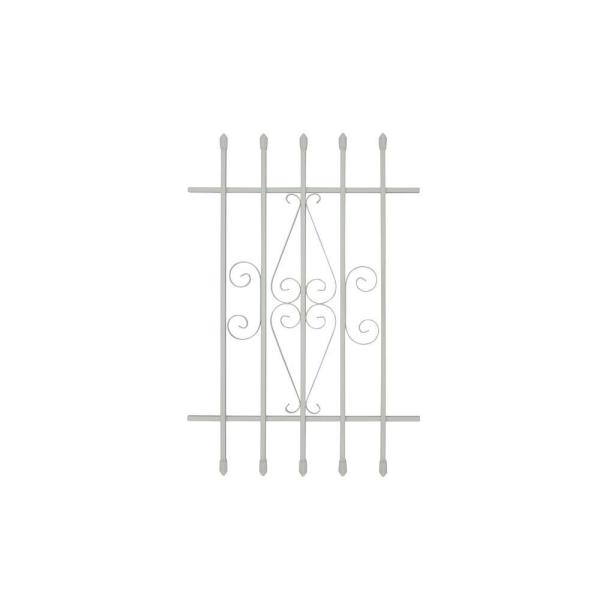 24 in. x 36 in. Spear Point 5-Bar Security Bar Window Guard, White