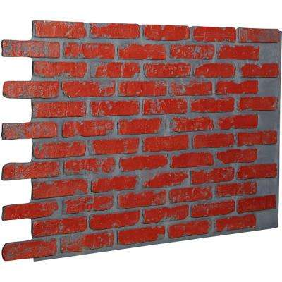 7/8 in. x 46-5/8 in. x 33-3/4 in. Red Brick Urethane Old Chicago Brick Wall Panel