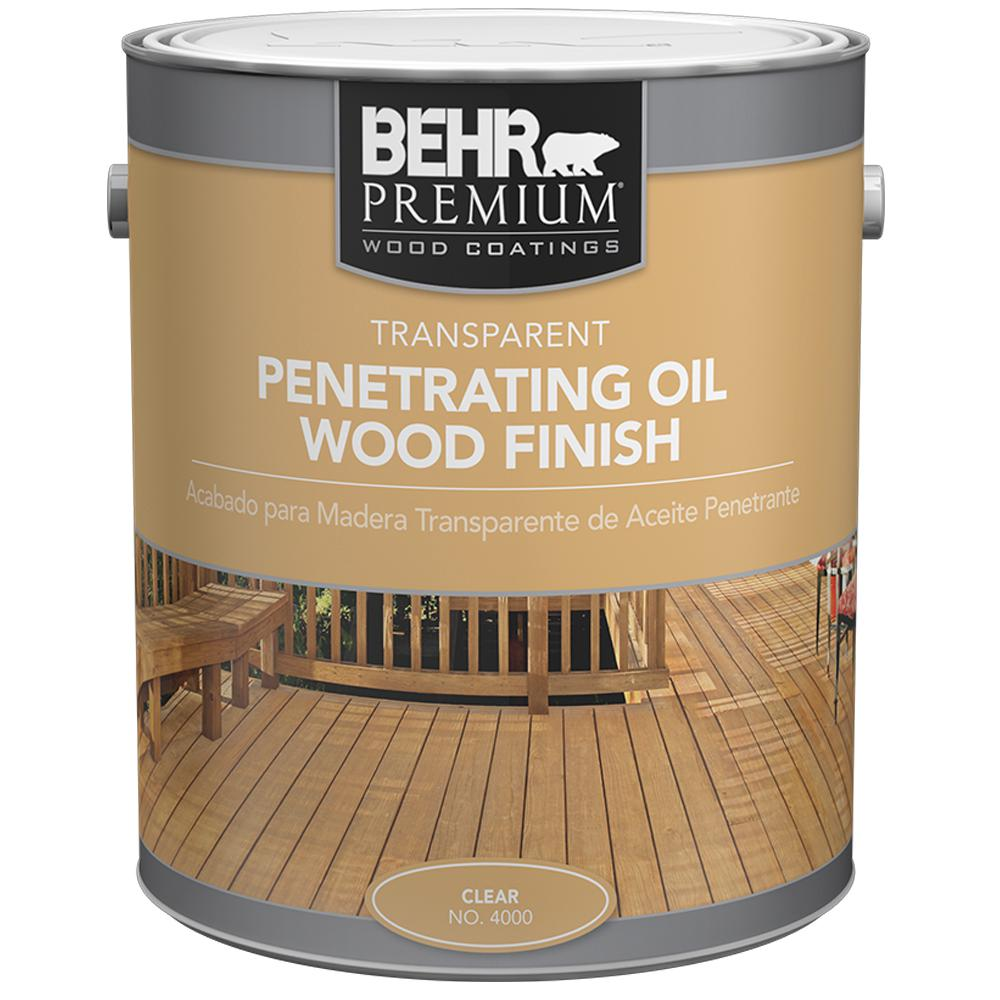 Exterior Wood Finishes: BEHR Premium 5 Gal. Clear Transparent Waterproofing