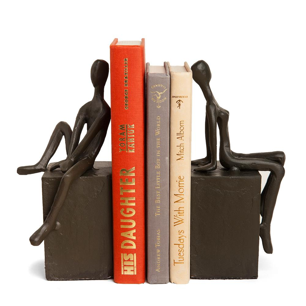 Danya B Man And Woman On Block Cast Iron Bookends Set Of