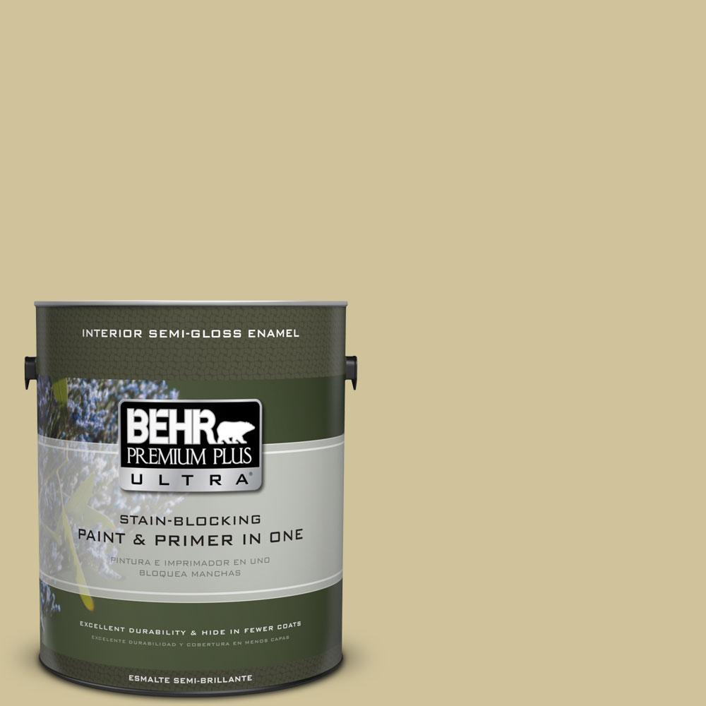 BEHR Premium Plus Ultra 1-gal. #390F-4 Outback Semi-Gloss Enamel Interior Paint