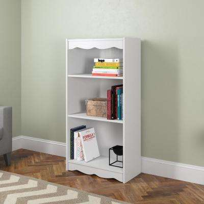 Hawthorn 48 in. Frost White Tall Bookcase