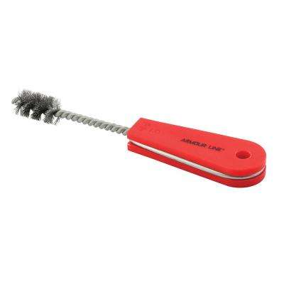 1/2 in. Internal Tube Cleaning Brush, Carbon Steel, Red Handle