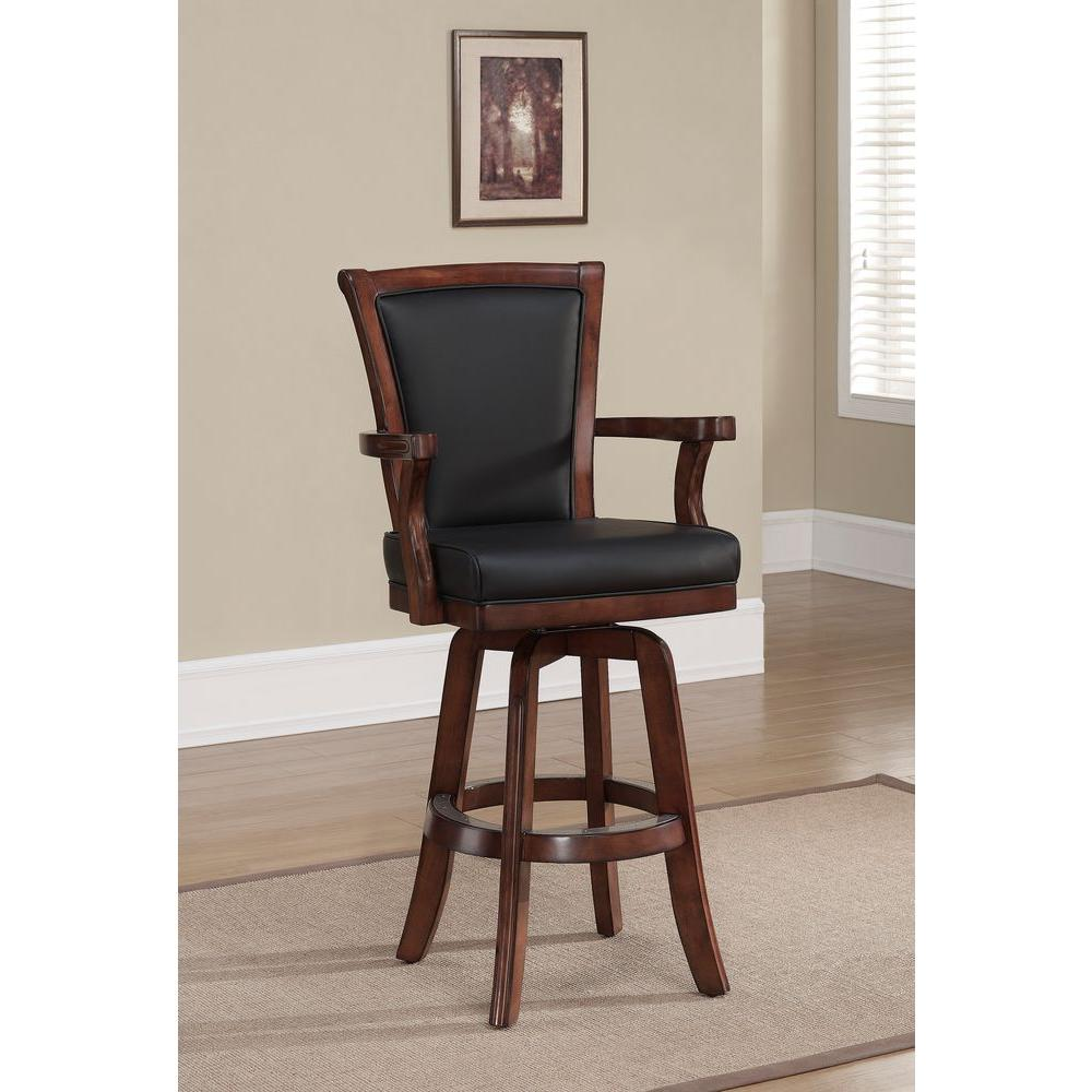 Auburn 31 in. Suede Cushioned Bar Stool
