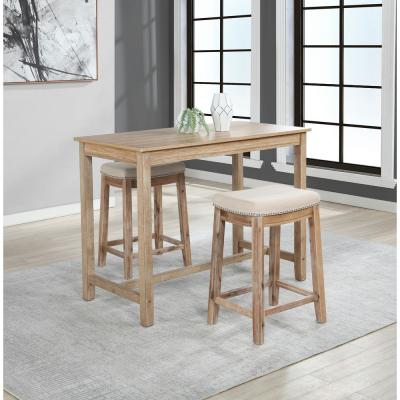 "Claridge Natural Acacia 36"" Counter Height Pub Table"