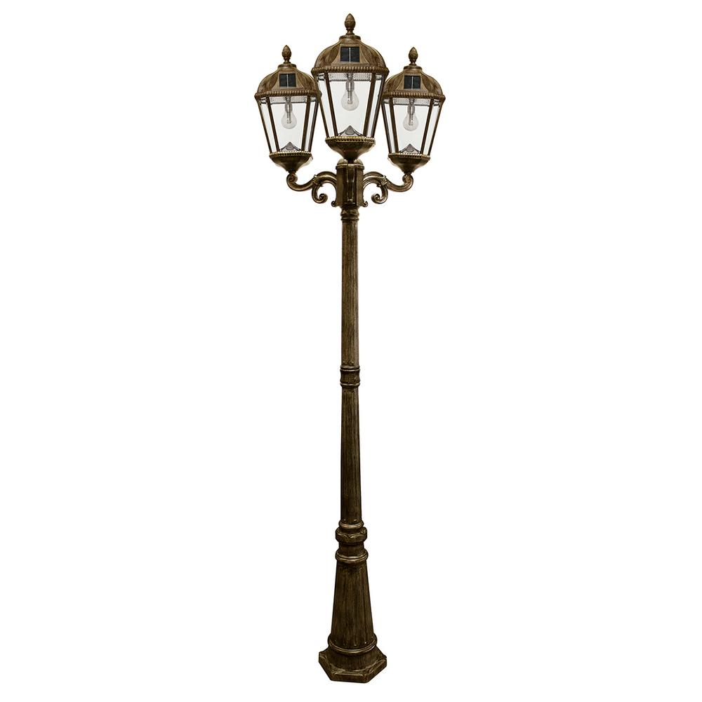 Gama sonic royal bulb series 3 head weathered bronze integrated led gama sonic royal bulb series 3 head weathered bronze integrated led outdoor solar lamp post with the gs solar led light bulb gs 98b t wb the home depot mozeypictures Images