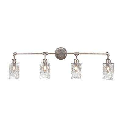 4-Light Aged Silver Bath Light