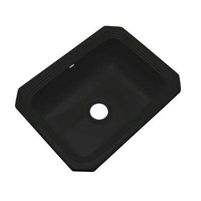 Rochester Undermount Acrylic 25 in. Single Bowl Kitchen Sink in Black