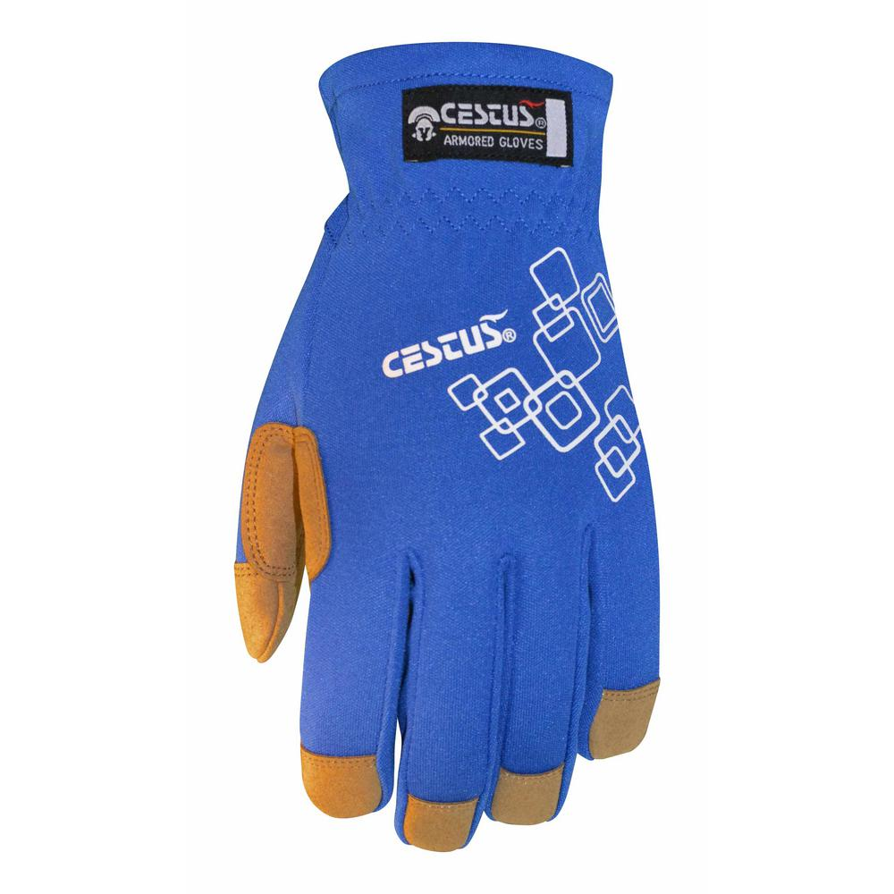 Large Blue GenU EZ-Fit Gloves